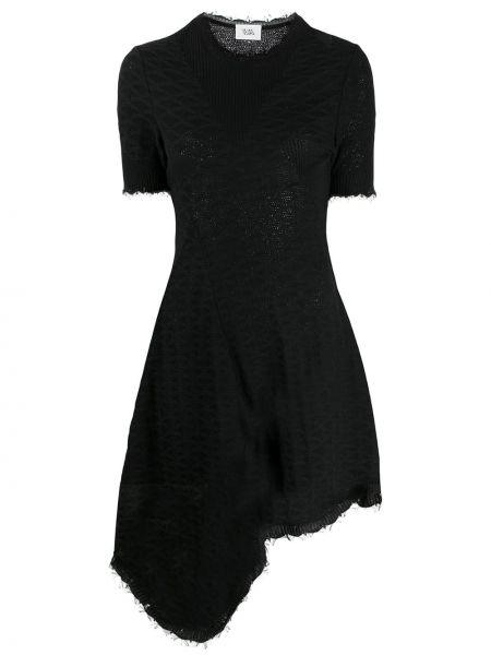 Асимметричное вязаное приталенное платье мини с вырезом Vejas