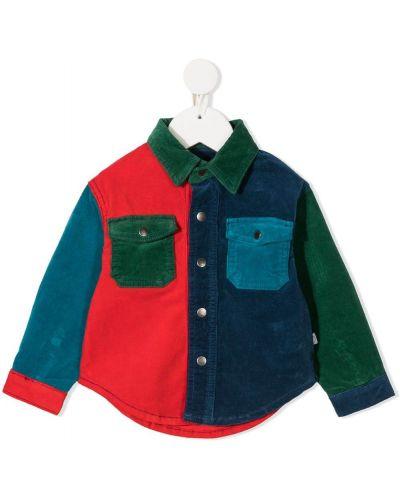 Klasyczna klasyczna koszula bawełniana z długimi rękawami Stella Mccartney Kids