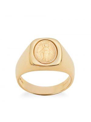 Золотистый медальон золотой с декоративной отделкой Dolce & Gabbana