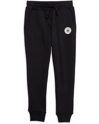 Czarne spodnie prążkowane Converse