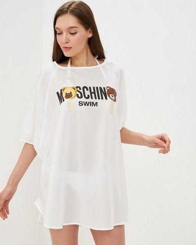 Пляжное платье весеннее платье-туника Moschino
