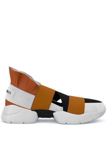 Wysoki sneakersy skórzane czarne Emilio Pucci