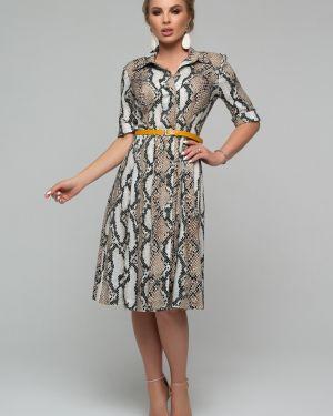 Приталенное нарядное с рукавами платье миди Петербургский Швейный Дом