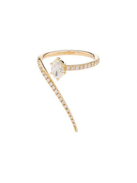 Pierścień ze złota z diamentem Jade Trau