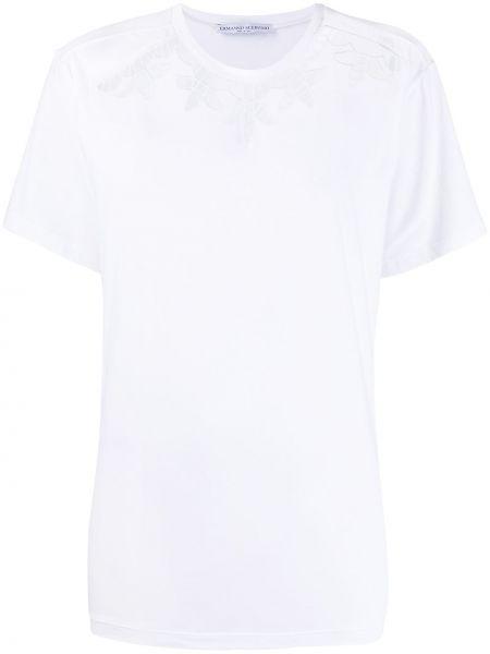 Белая футболка с вырезом с воротником Ermanno Scervino