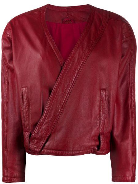 Красная кожаная куртка винтажная A.n.g.e.l.o. Vintage Cult