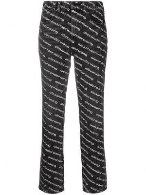 Spodni bawełna czarny klasyczne spodnie z kieszeniami Alexander Wang