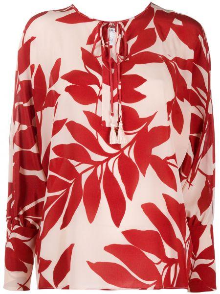 Шелковая блузка - красная Max Mara Studio