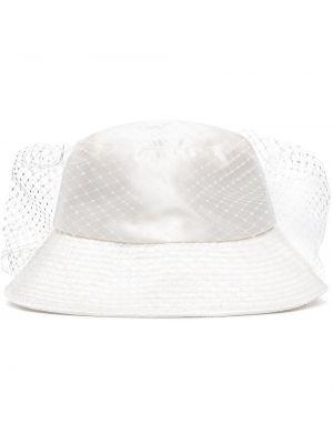 Satynowy biały kapelusz miejski Jennifer Behr