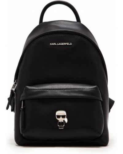 Кожаный рюкзак на молнии черный Karl Lagerfeld