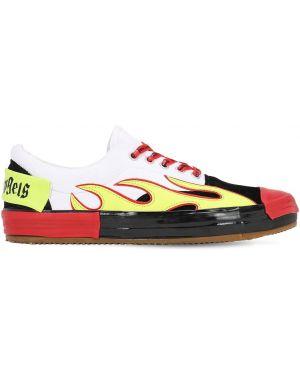 Кожаные кроссовки на шнуровке с логотипом Palm Angels