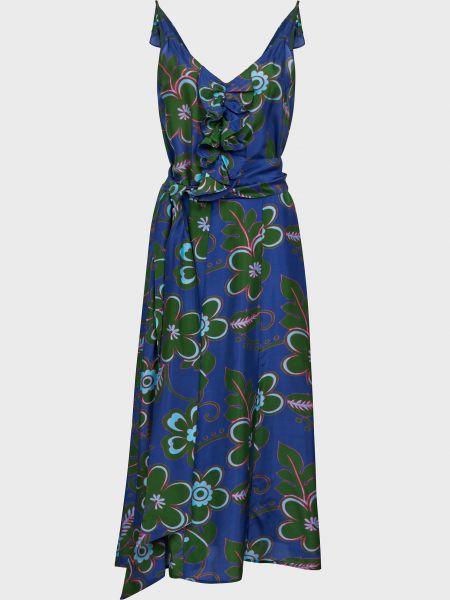 Шелковое платье на молнии Michel Klein