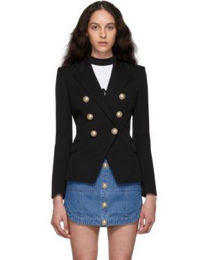 Пиджак черный в полоску Balmain