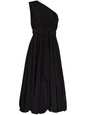 Czarny sukienka midi z kieszeniami Tibi