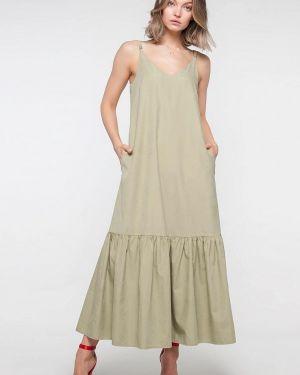Платье платье-сарафан зеленый Лимонти