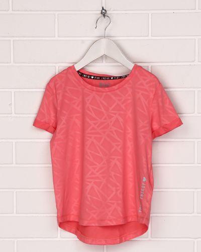Розовая футболка с короткими рукавами круглая Crivit