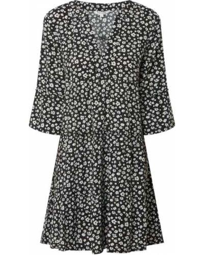 Czarna sukienka rozkloszowana z falbanami Review