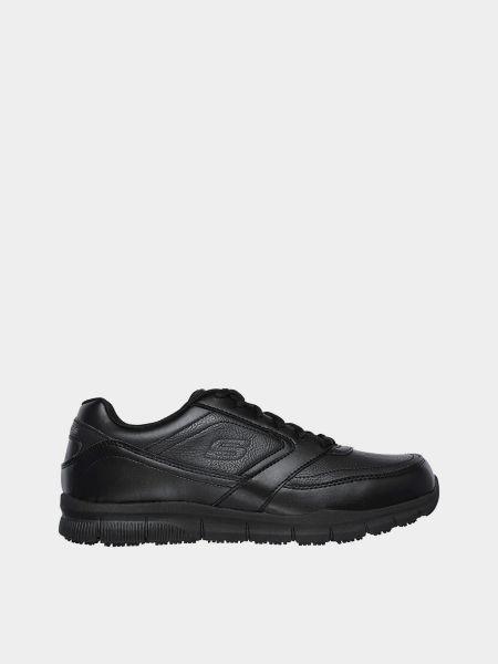 Кожаные кроссовки - черные Skechers