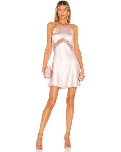 Шелковое кружевное розовое платье Lpa
