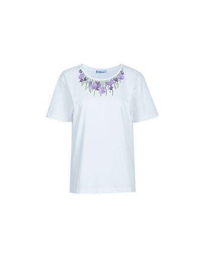Белая футболка хлопковая Blumarine
