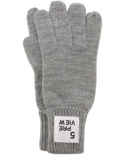 Серые перчатки вязаные 5preview