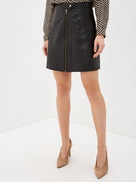 Платье кожаное черное Y.a.s