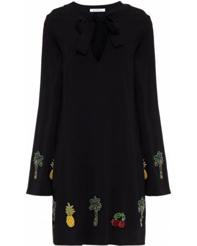 Czarna sukienka mini z wiskozy Vivetta