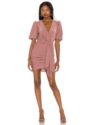 Восточное платье мини с люрексом с подкладкой Saylor