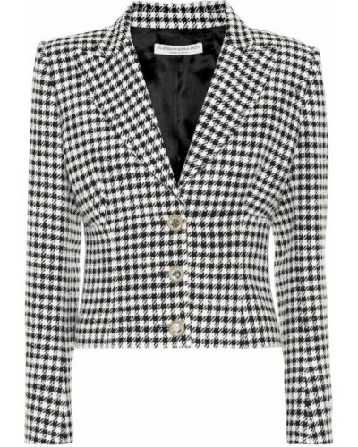 Черный пиджак твидовый на кнопках Alessandra Rich