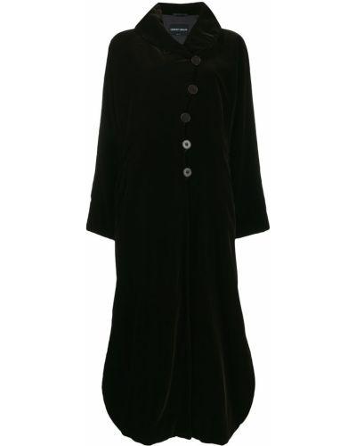 Бархатное пальто классическое с воротником с рукавом реглан Giorgio Armani Pre-owned