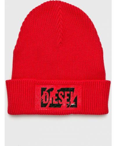 Зимняя шапка хлопковая с отворотом Diesel
