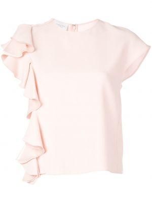 Блузка розовая с рюшами Giambattista Valli