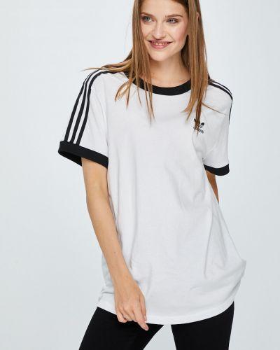 Футболка белая свободная Adidas Originals