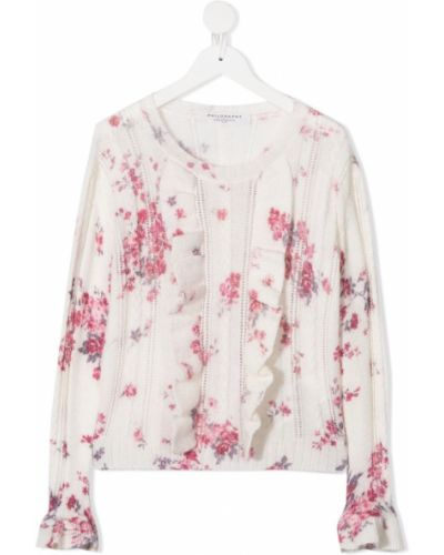 Вязаная розовая блузка с длинными рукавами Philosophy Di Lorenzo Serafini Kids
