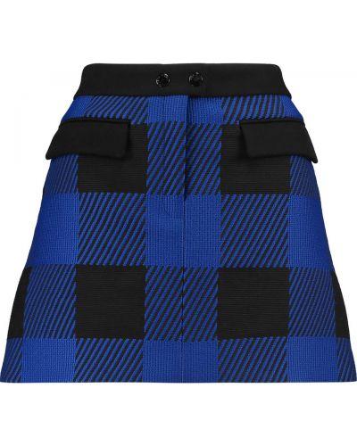 Niebieska spódnica mini bawełniana Rag & Bone