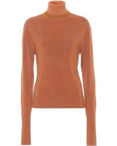 Pomarańczowy sweter wełniany Chloã©