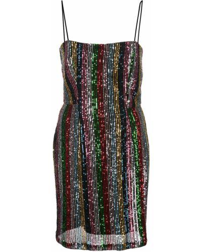 Платье мини с пайетками в полоску Milly