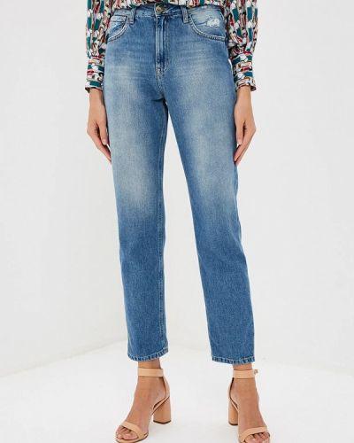 Голубые прямые джинсы Elisabetta Franchi