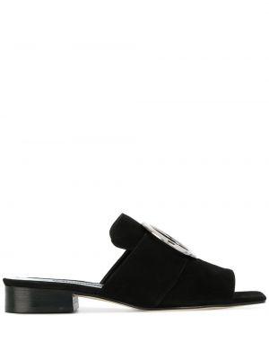 Czarne sandały skorzane Dorateymur