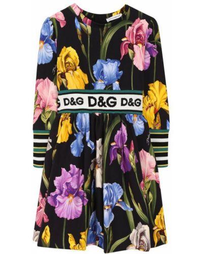 Платье хлопковое со вставками Dolce & Gabbana