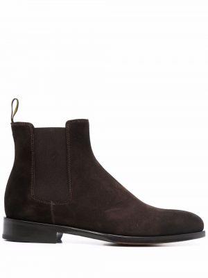 Коричневые ботинки на шпильке Doucal's