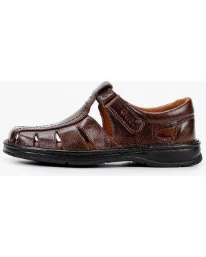 Коричневые кожаные сандалии Gut