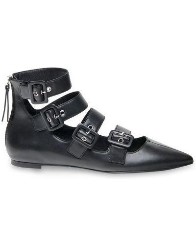 Кожаные туфли на плоской подошве с пряжкой Ash