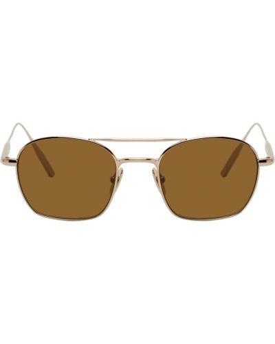 Brązowe złote okulary Byredo