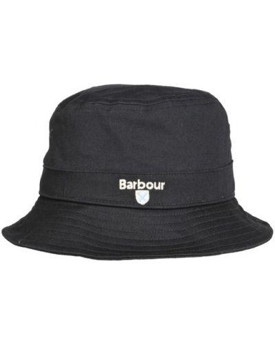 Szara czapka sportowa bawełniana na co dzień Barbour