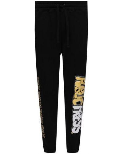 Черные хлопковые брюки Diego Venturino