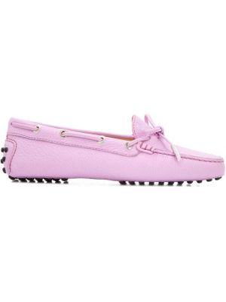 Лоферы розовый на шнуровке Tods