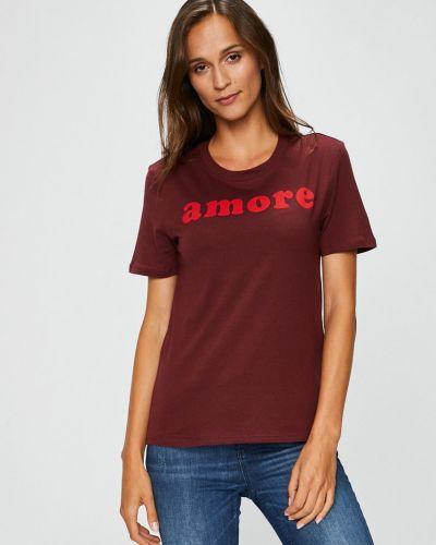 Коричневая свободная футболка Only