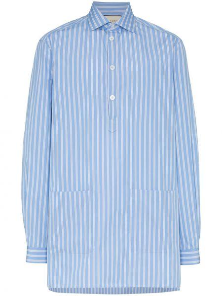 Koszula z długim rękawem klasyczna z paskami Gucci