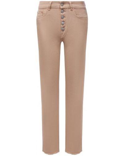 Хлопковые джинсы - бежевые Mm6